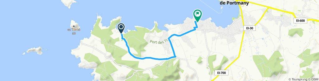 Giro a velocità costante in Sant Josep de Sa Talaia