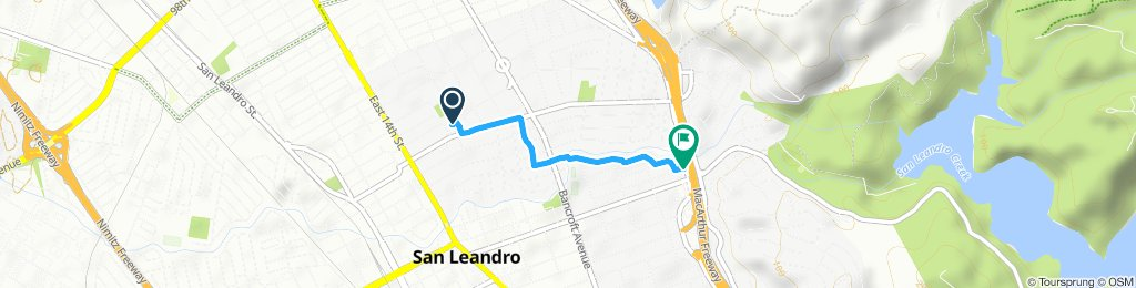 Relaxed route in San Leandro