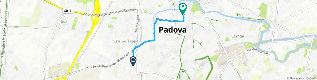 Percorso moderato in Padova