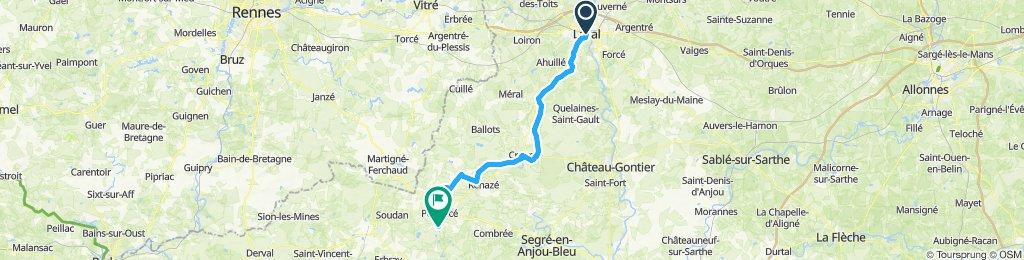 Laval - Prévière 67 Km