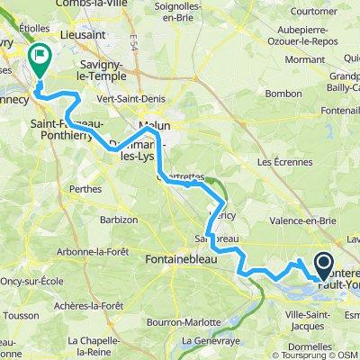 Montereau to Saintry-sur-Seine