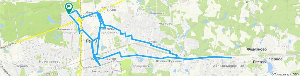 Осенние прохолодалые велоездки 16 10 2019 Железнодорожный - Реутов - Новогиреево 16 10 2019