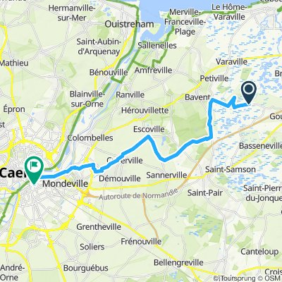 Dives River to Robehomme then Caen