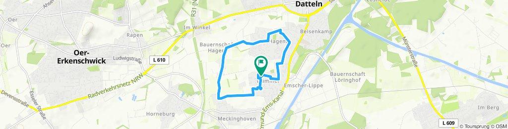 Entspannende Route in Datteln