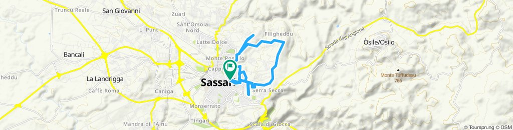 Percorso rilassato in Sassari