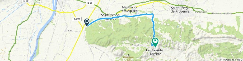 Itinéraire confortable en Les Baux-de-Provencem