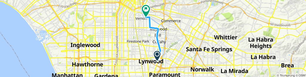 Restful route in Vernon