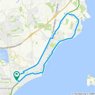 Sporty route in Risskov