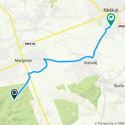 Supersonic route in Radauti