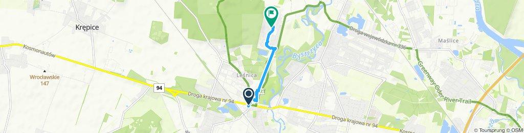trasa z Aldika do domu 18.10.2019