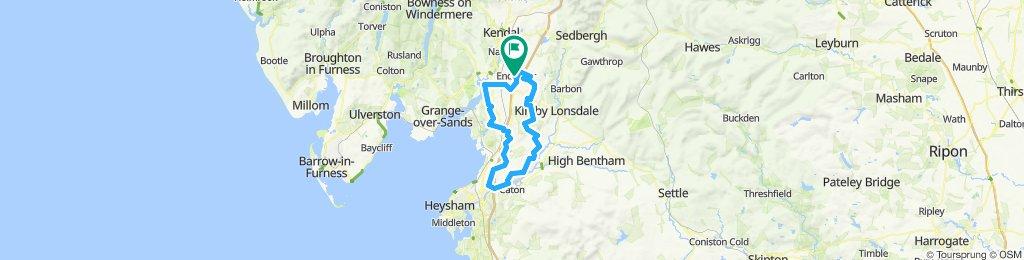 Flat Cumbria/Lancashire route
