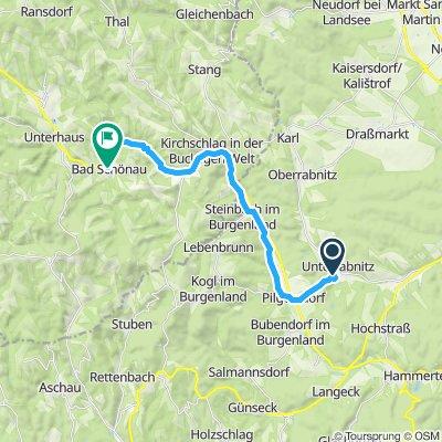 Gerade Fahrt in Bad Schönau