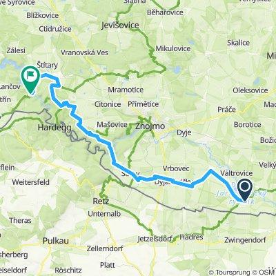 Berlin - Prag Etappe 18 Jaroslavice - Vranov nad Dyji