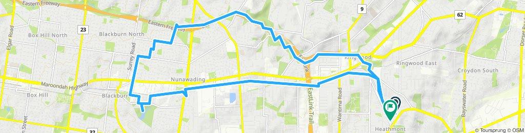 Heathmont Blackburn Lake Eastlink loop