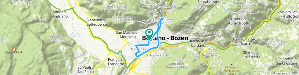 Percorso ad alta velocità in Bolzano 20.11.2019