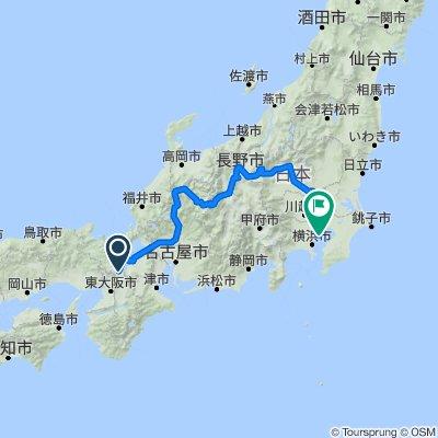 Kyoto - Nagano - Tokyo (length of Japan)