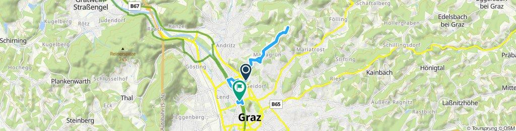 Gerade Fahrt in Graz
