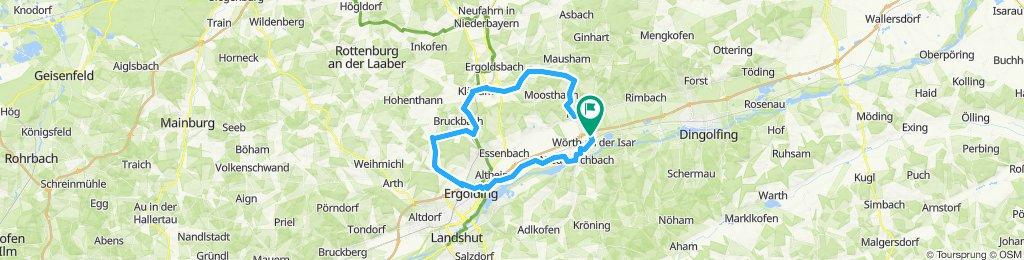 Wörth-Oberköllnbach-Paindlkofen-Martinshaun-Kläham-Artlkofen-Weihenstephan-Ergolding-Ohu-Wörth