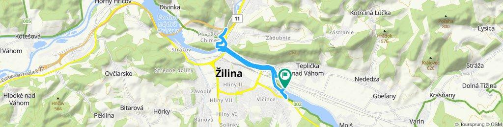 Restful route in Teplička nad Váhom