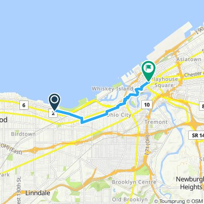 Lake Avenue to Cleveland Public Library