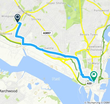 Moderate route in Southampton