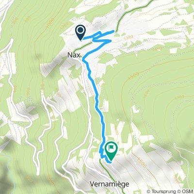 Itinéraire modéré entre Nax et Vernamiège