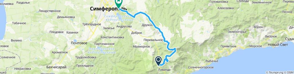Через Демерджи и Долгоруковскую яйлу