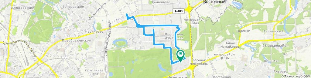 Скромные велоездки Измайлово - Гольяново 22-10-2019