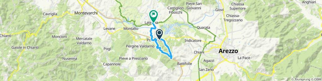 Giro semplice in Laterina le Mariette