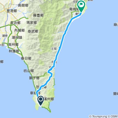 kenting to taitung