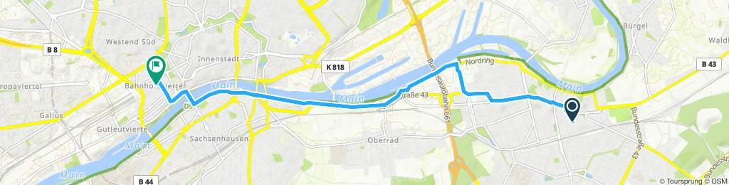 Moderate route in Frankfurt am Main