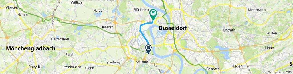 Moderate Route in Düsseldorf