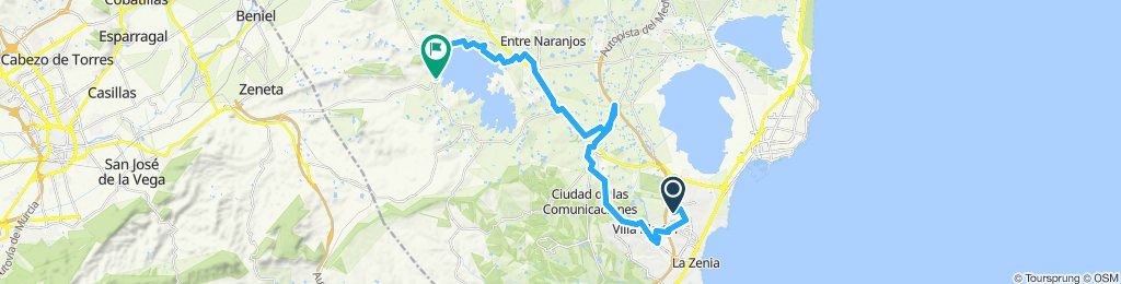 Relaxed route in Orihuela