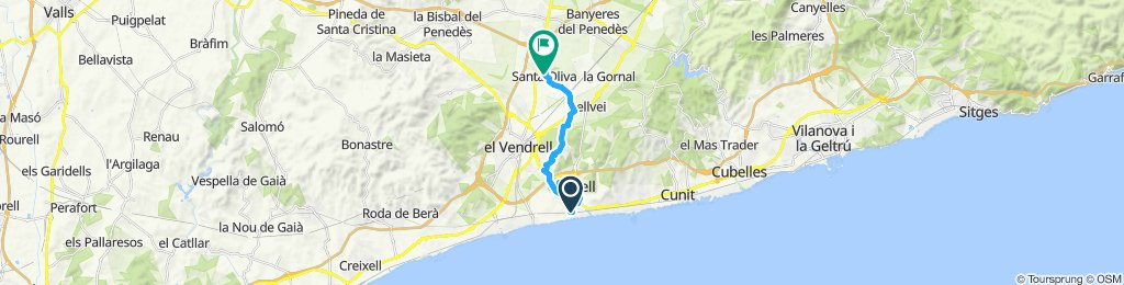 Restful route in Calafell