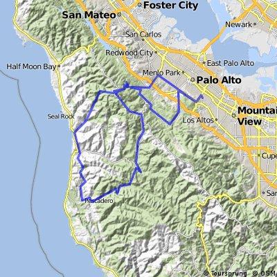 Silicon Valley Tour de Cure 120k Route