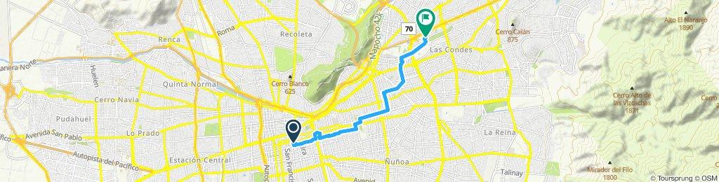 Ruta relajada en Las Condes