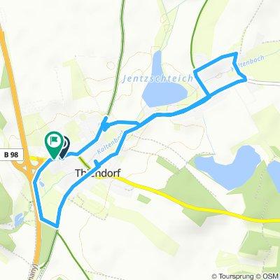 Einfache Fahrt in Thiendorf
