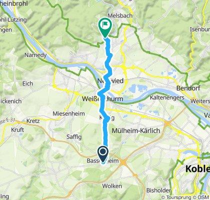 Langsame Fahrt in Bassenheim