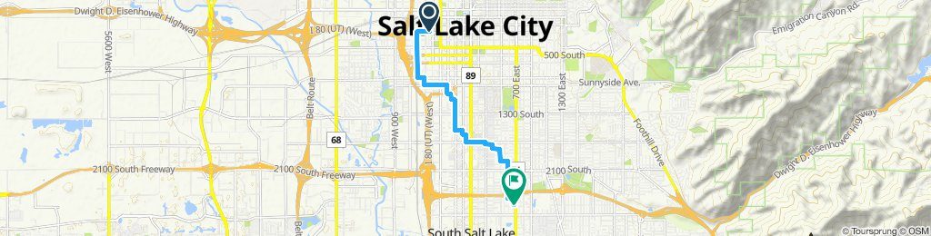 Moderate route in Salt Lake City