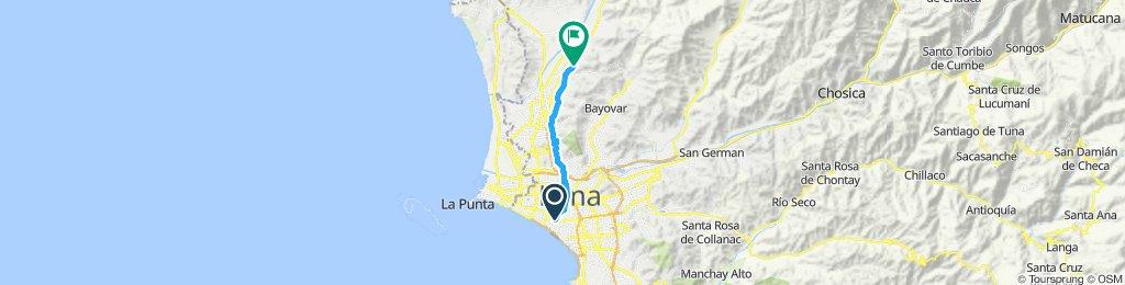 Ruta moderada en Lima trabajo