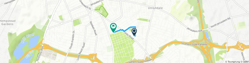 Moderate route in Hempstead