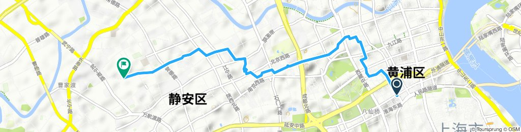 Snail-like route in Shanghai