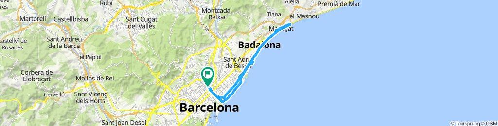 Ruta Barcelona- montgat