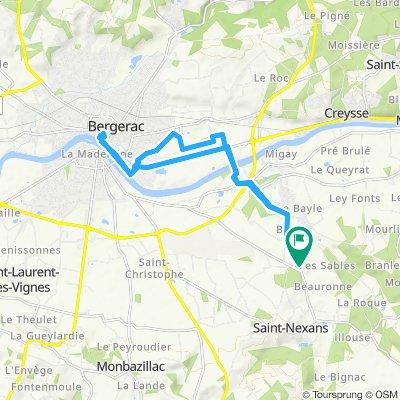 Itinéraire confortable en Saint-Nexans with Nicole