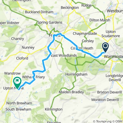 via frome to North Brewham