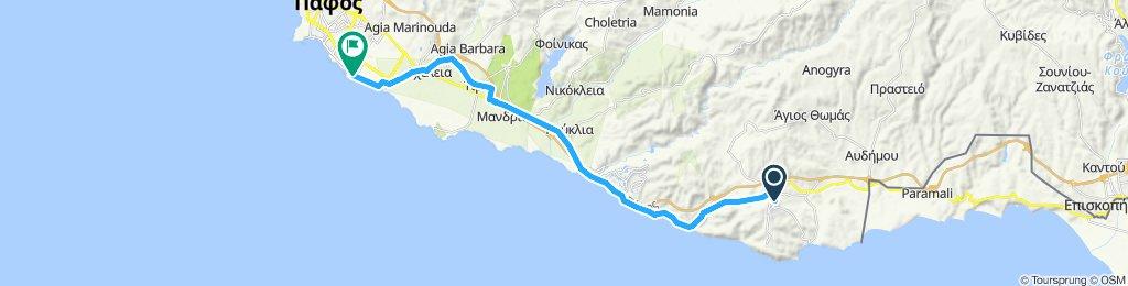 Pissouri to Paphos