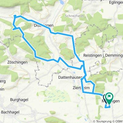 Sportliche Route in Mödingen
