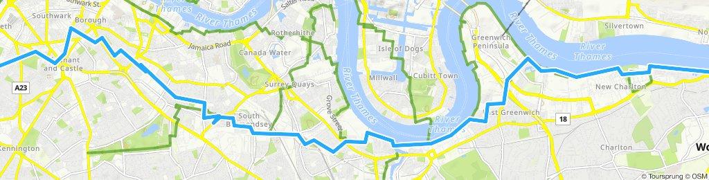 Slow ride in London