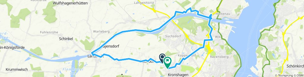 Moderate Route in Kronshagen