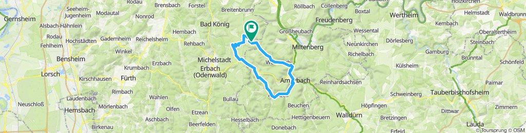 Vielbrunn - Amorbach - Kirchzell - Franziscus Weg (Talgrabenweg)  - Boxbrunn - Eulbach - Müller Weg - Weiten-Gesäß